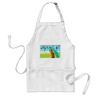 Arty colorful array of Stand Up Paddlers Adult Apron
