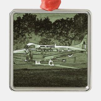 Arty de Havilland DH104 Devon Adorno Navideño Cuadrado De Metal
