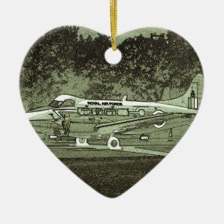 Arty de Havilland DH104 Devon Adorno Navideño De Cerámica En Forma De Corazón