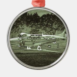 Arty de Havilland DH104 Devon Adorno Navideño Redondo De Metal