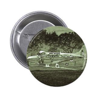 Arty De Havilland DH104 Devon 2 Inch Round Button