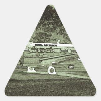Arty De Havilland DH104 Devon Triangle Sticker