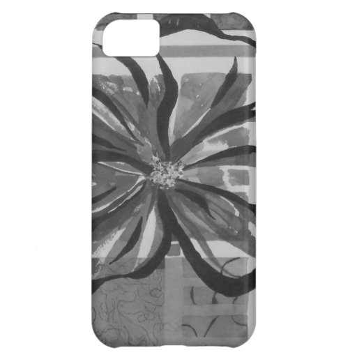 Arty Flower - Watercolors in Black & White iPhone 5C Covers