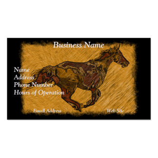 Arty Galloping Pinto Horse Double-Sided Standard Business Cards (Pack Of 100)