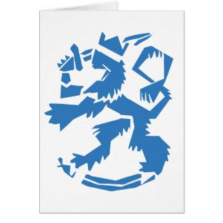 Arty Lion Folding Card