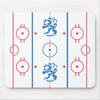 Arty Lion Hockey Rink Mousepad