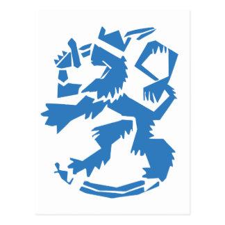 Arty Lion Postcard
