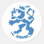 Arty Lion Sticker
