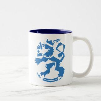 Arty Lion Two-Tone Mug