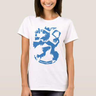 Arty Lion Women's Fitted T-shirt