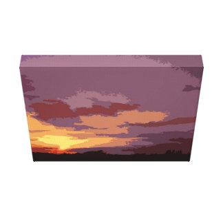 Arty mix Sunset Canvas Print