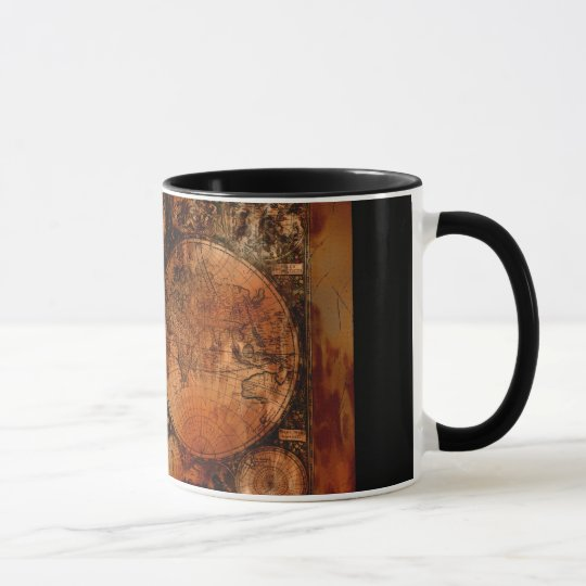 Arty Old World Map History-lover Mugs