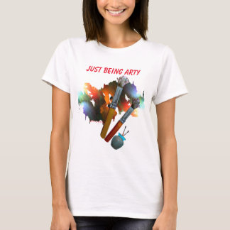Arty Paint & Brushes T-Shirt