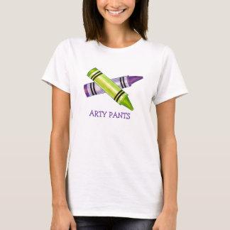 Arty Pants Art Teacher Artist Crayons Tee
