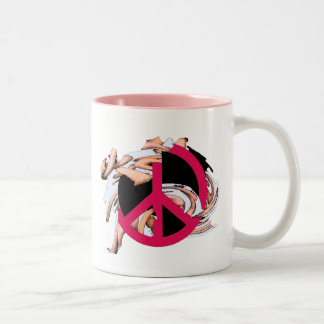 Arty Peace Sign Mug