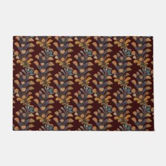 Arty Pine Cones Custom Color Door Mat