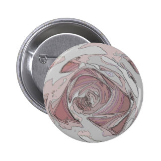 arty pink rose button / badge