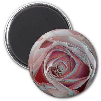 arty pinky rose 2 inch round magnet
