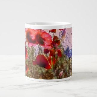 Arty poppies jumbo mugs