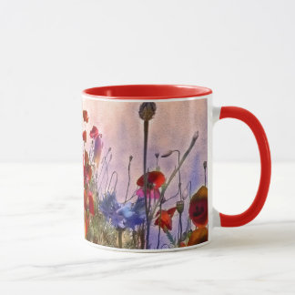 Arty poppies mug
