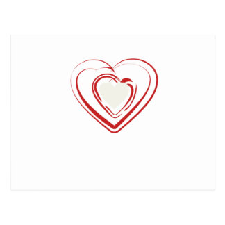 Arty Red Heart Postcard