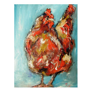 arty rooster from pixi-art.com postcard