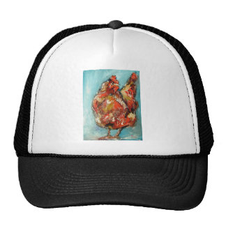 arty rooster from pixi-art.com trucker hat
