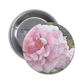 Arty Roses 2 Inch Round Button