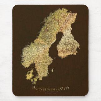 Arty Scandinavia Map Educational Gift Mouse Pad