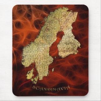Arty Scandinavian Map Educational Gift Mouse Pad