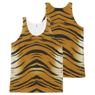 Arty Tiger Stripes All-Over Print Tank Top