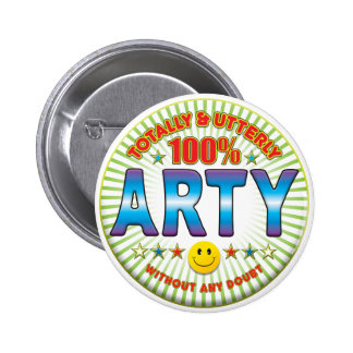 Arty Totally 2 Inch Round Button