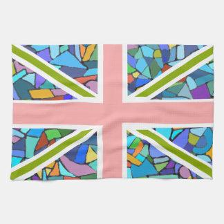 Arty Union Jack Flag Kitchen Towel