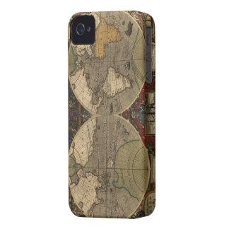 Arty Vintage 1595 Old World Map iPhone 4 Case