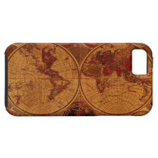 Arty Vintage Old Gold World Map iPhone 5 Case