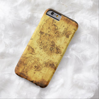 Arty Vintage Old World Map Barely There iPhone 6 Case