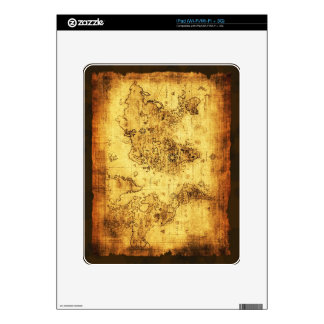 Arty Vintage Old World Map Decal For iPad