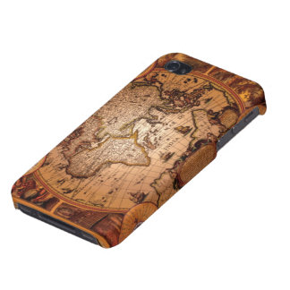 Arty Vintage Old World Map iPhone 4 Savvy Case