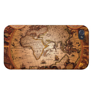 Arty Vintage Old World Map iPhone 4 Savvy Case iPhone 4 Cases