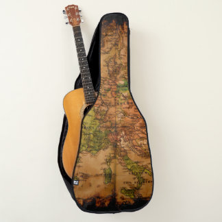 Arty Vintage Old World Map of Europe 1740 Guitar Case