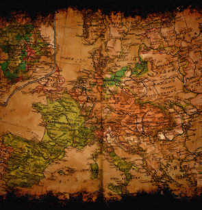 Arty Vintage Old World Map Of Europe 1740 Shower Curtain