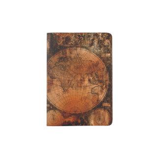Arty Vintage Old World Map Passport Holder