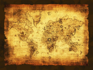 Old world maps posters zazzle arty vintage old world map poster gumiabroncs Images