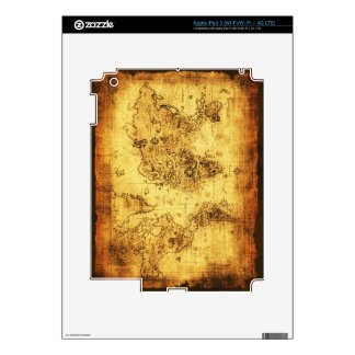Arty Vintage Old World Map Skin For iPad 3