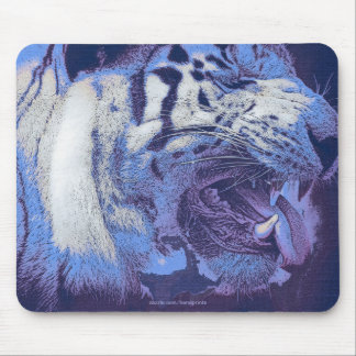 Arty White Tiger Wild Animal Big Cat Mouse Pads