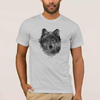 Arty Wolf with gold eyes T-Shirt