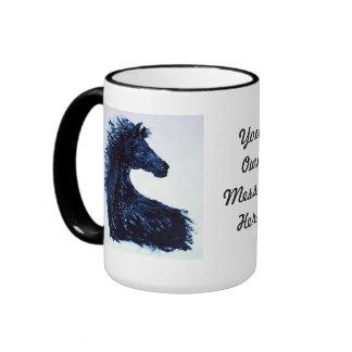 `Arty'Black Horse Ringer Mug