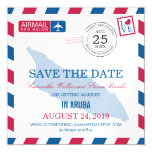 Aruba Airmail Save the Date Magnetic Invitations