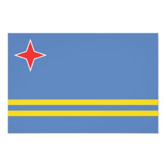 Aruba – Aruban Flag Art Photo
