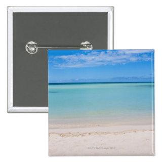 Aruba, beach and sea 3 2 inch square button